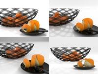 3D oranges 02 model