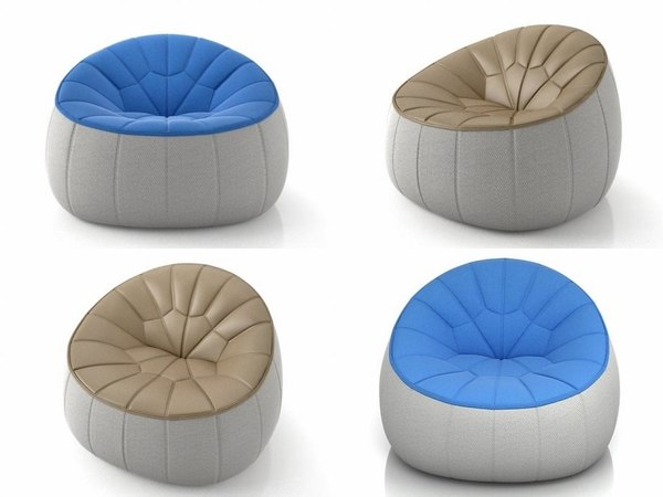ottoman armchair 3D model