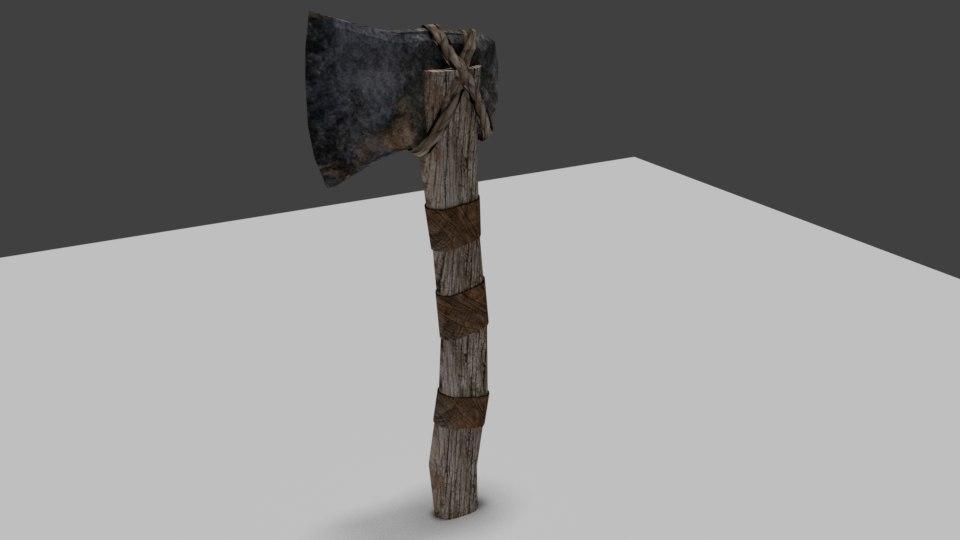 stone axe 3D