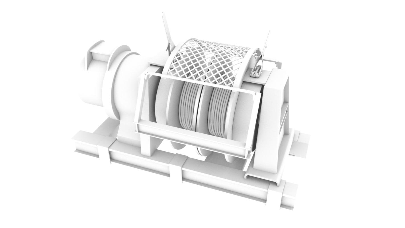 winch mining 3D model