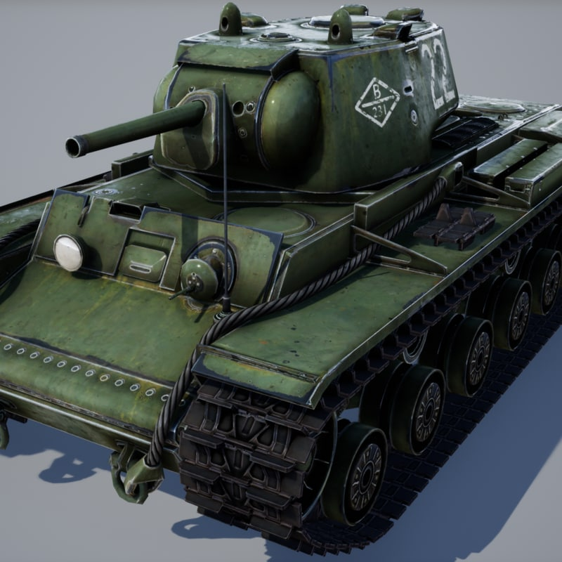 kv-1 tank - games 3D model