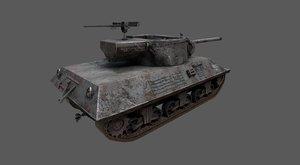 3D model tank destroyer m36 jackson
