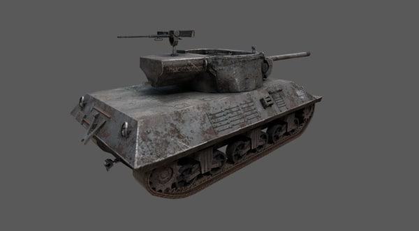3D model tank destroyer m36 jackson