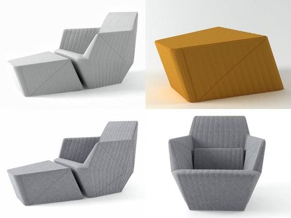 3D model facett armchair