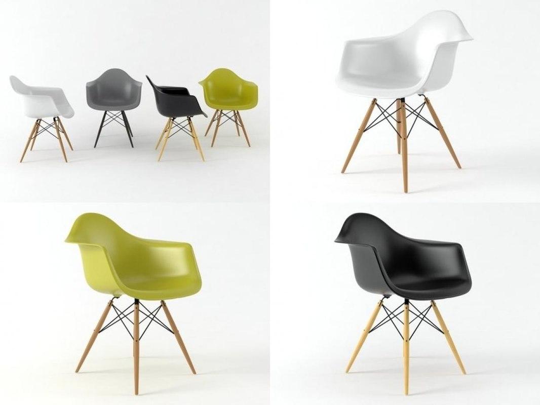 Eames Plastic Armchair : Eames plastic armchair daw d model turbosquid