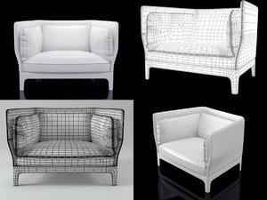 armchairs poltrona-frau 3D model