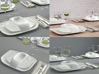 3D table set 03 model