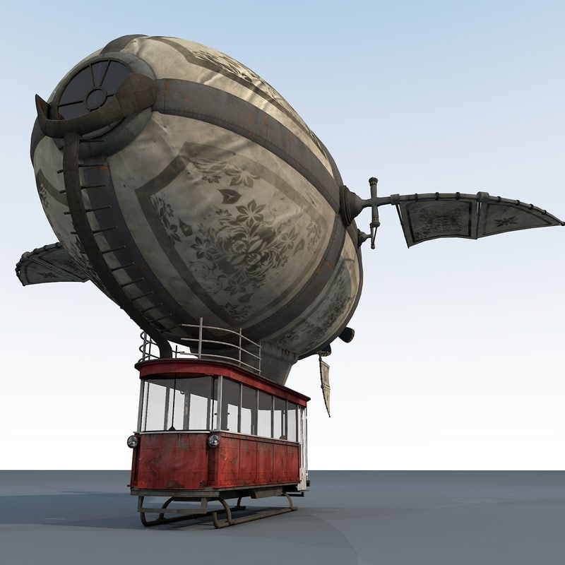 fantasy zeppelin 3D model