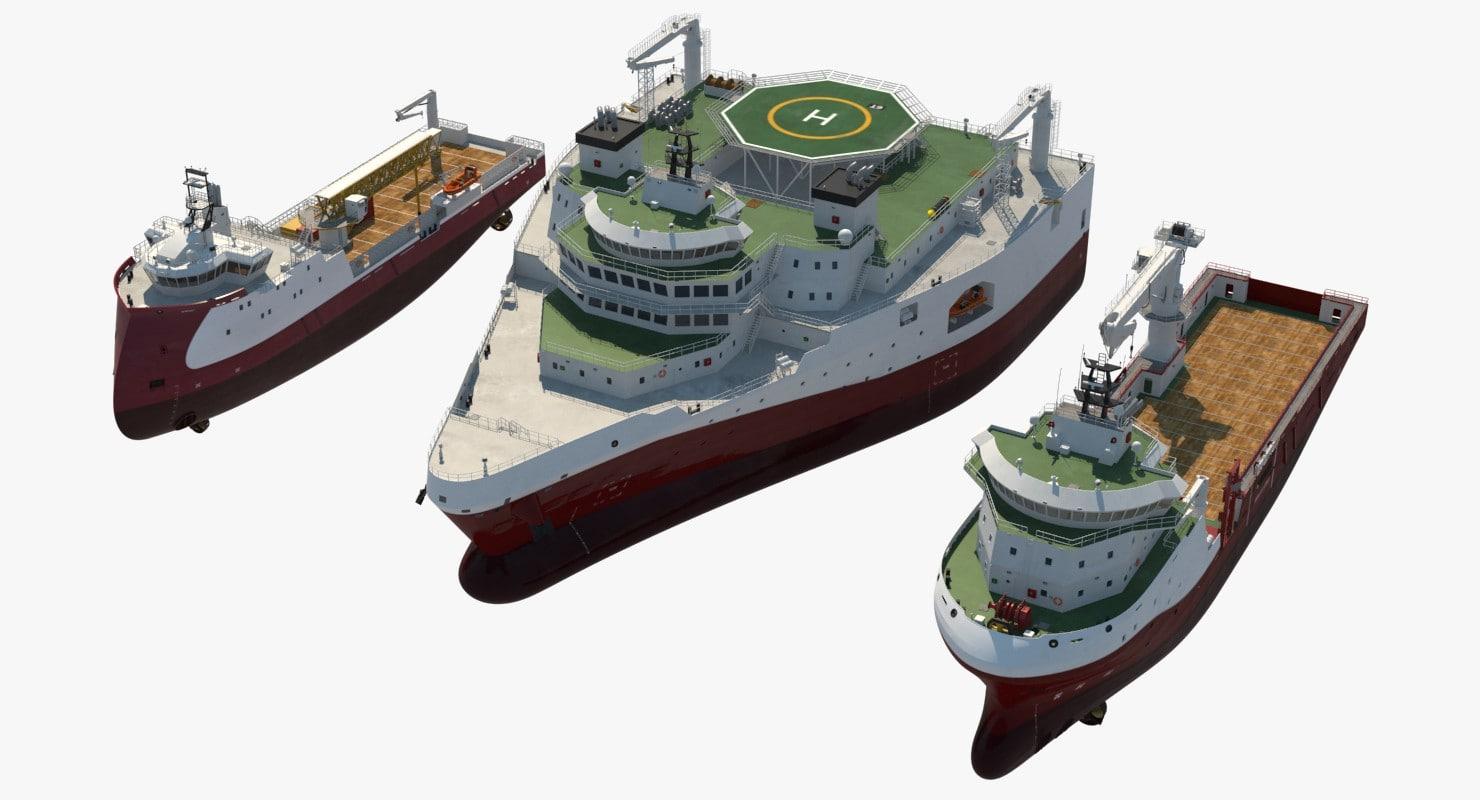 oscv offshore ship 3D