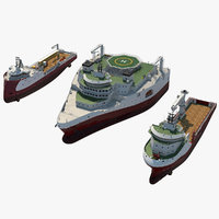 oscv offshore ship 3D