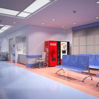 3D model hospital corridor
