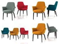 3D york armchair model