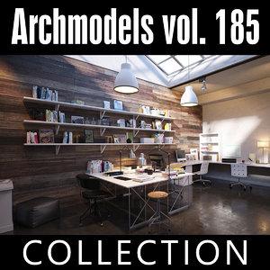 3D model archmodels vol 185 office desks
