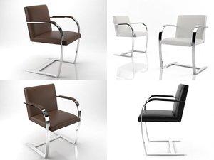 3D brno flat bar chair