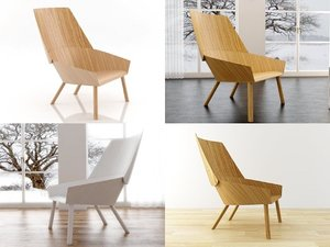 3D eugene lounge chair