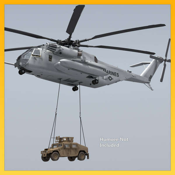 ch-53e military helicopter 3D model