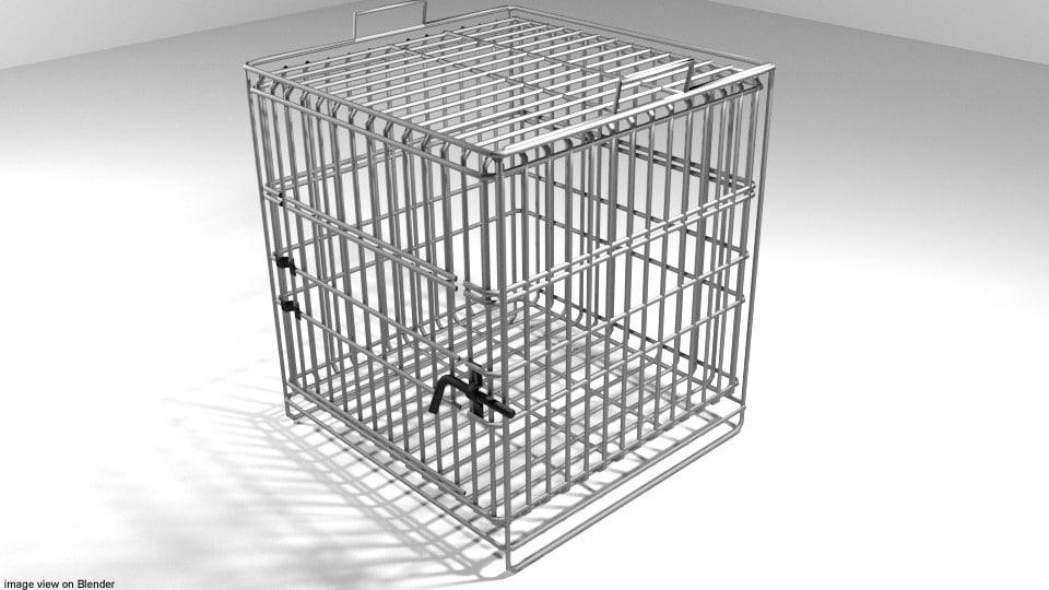 3D model cage pet
