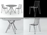 tio chair table 3D