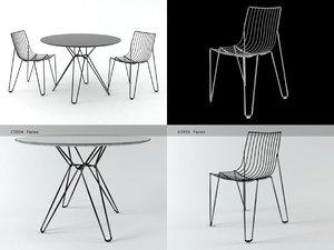 tio chair table 3D