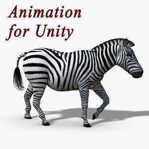 zebra rigged unity3d 3D model