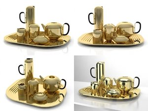 3D eclectic form tea set