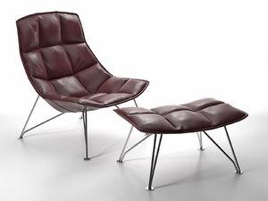 jl lounge chair wb 3D model