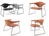 3D masculo lounge chair model
