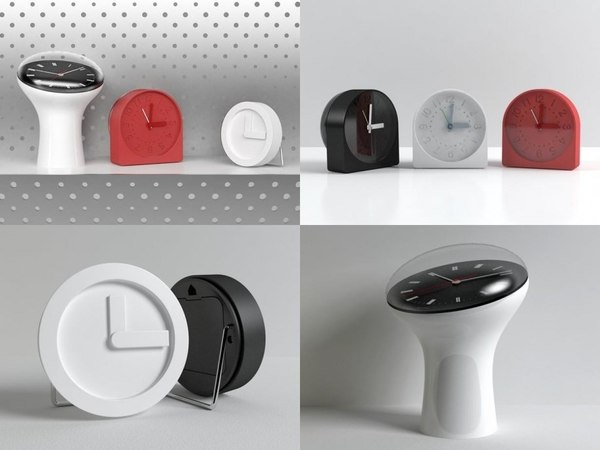 3D table clock set