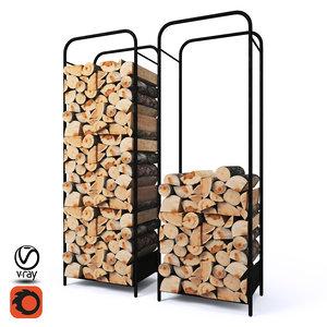 firewood storage rack 052338-028 3D model