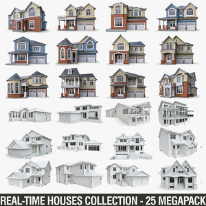 3D cottage houses