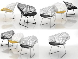 bertoia small diamond chair model