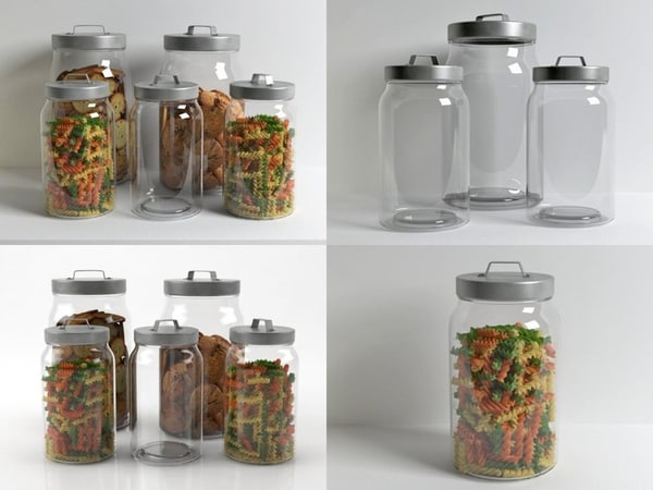 glass jar 3D model