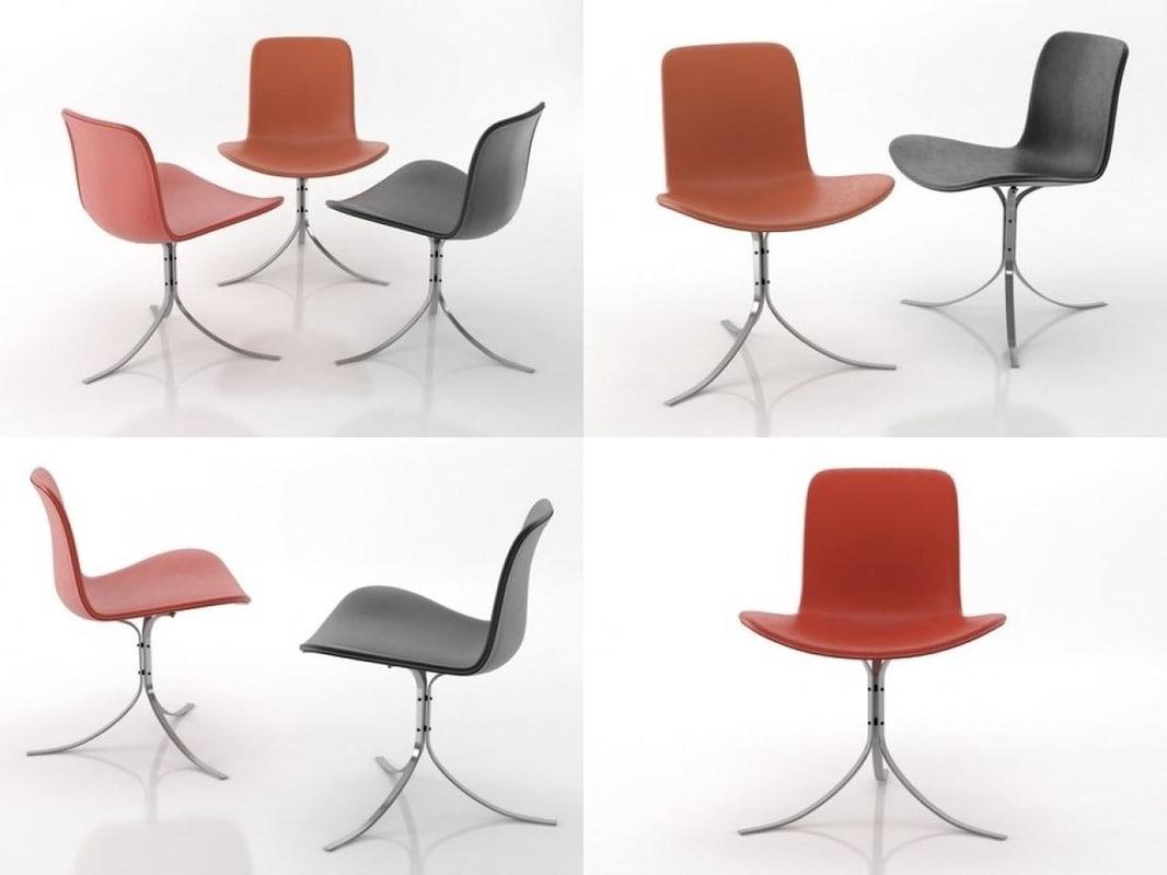 3D pk9 tulip chair