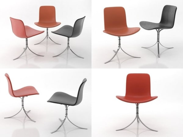 3D pk9 tulip chair
