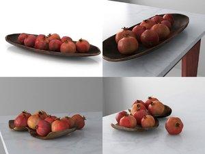 pomegranate smallaccents 3D model