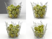 3D blow citrus basket
