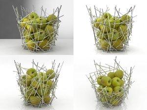 3D blow citrus basket