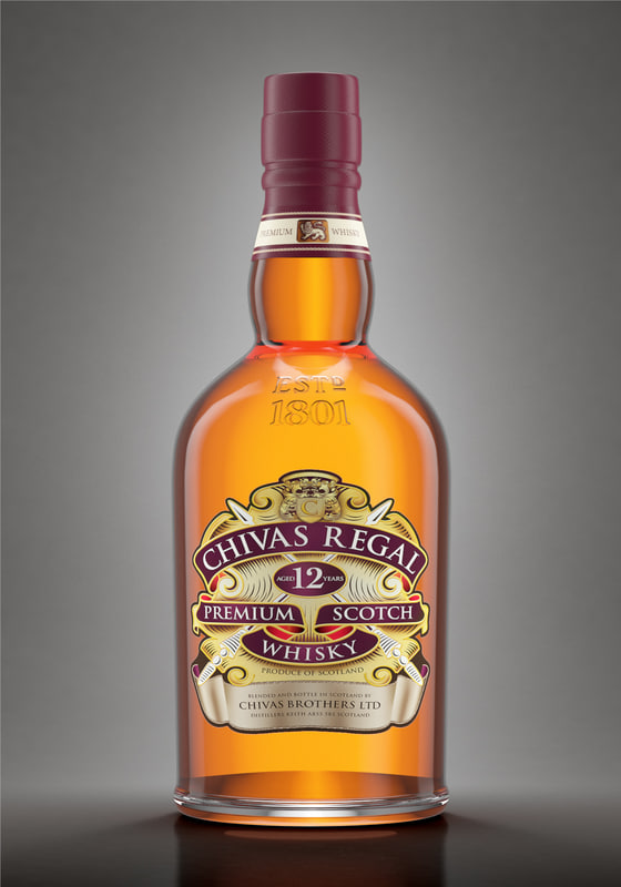 3D chivas bottle