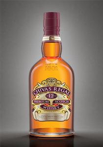 3D chivas bottle