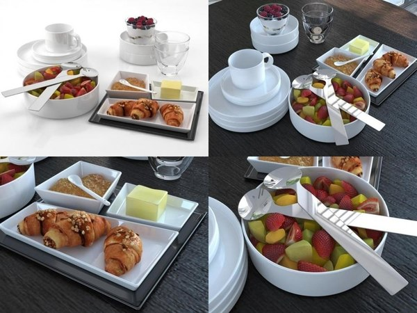 breakfast set 02 3D model