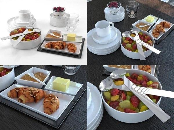 breakfast set 02 3D model