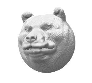 bear head model