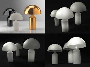 atollo oluce 3D model