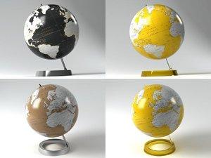 3D model circle atmosphere