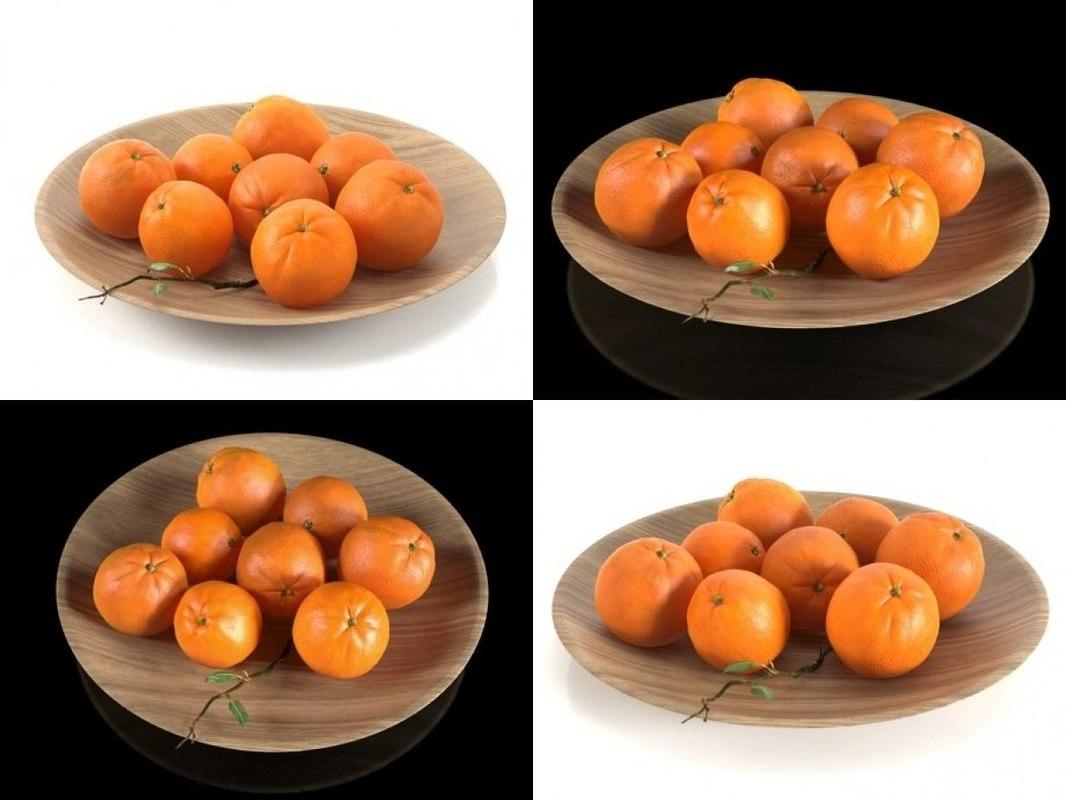 3D oranges smallaccents model