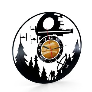 star war wall clock 3D model