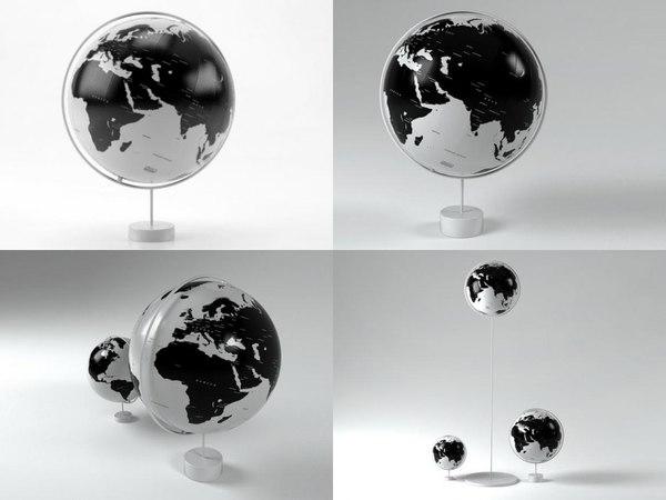 3D corona globes