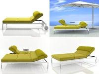 3D springtime chaise lounge model