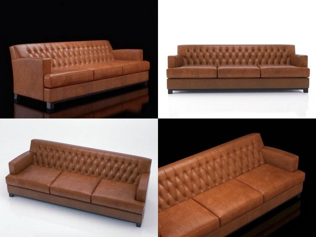 hammercap sofa 3D model