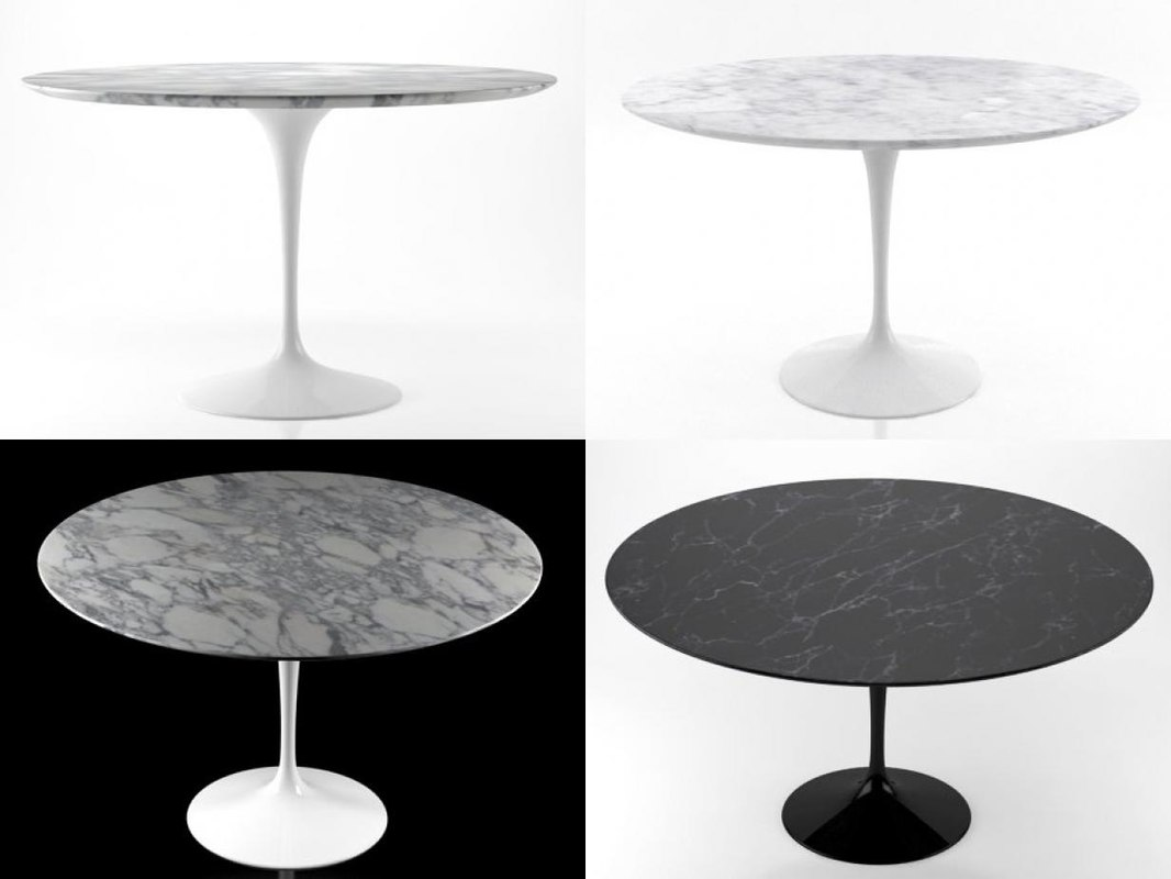 3D Tulip Table; 3D Tulip Table ...